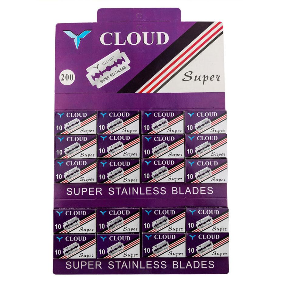 紫色克劳德挂卡双面不锈钢74刀片